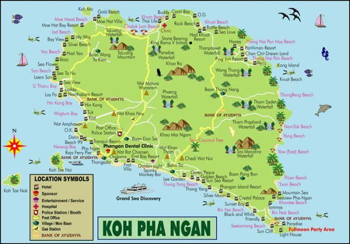 パンガン島 地図