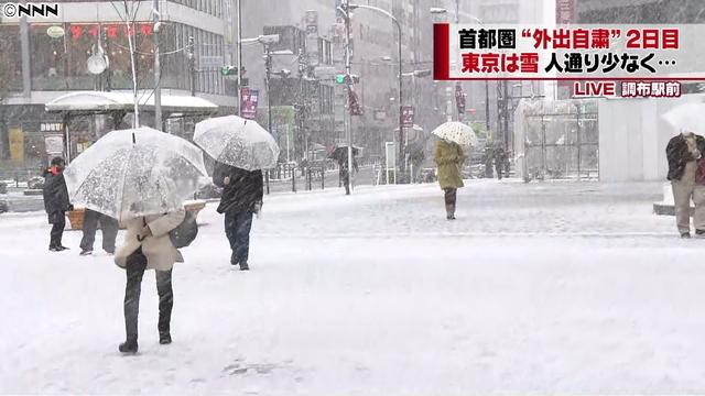 東京で雪 3月29日