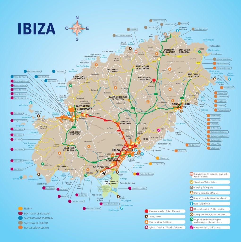 イビサ島 地図