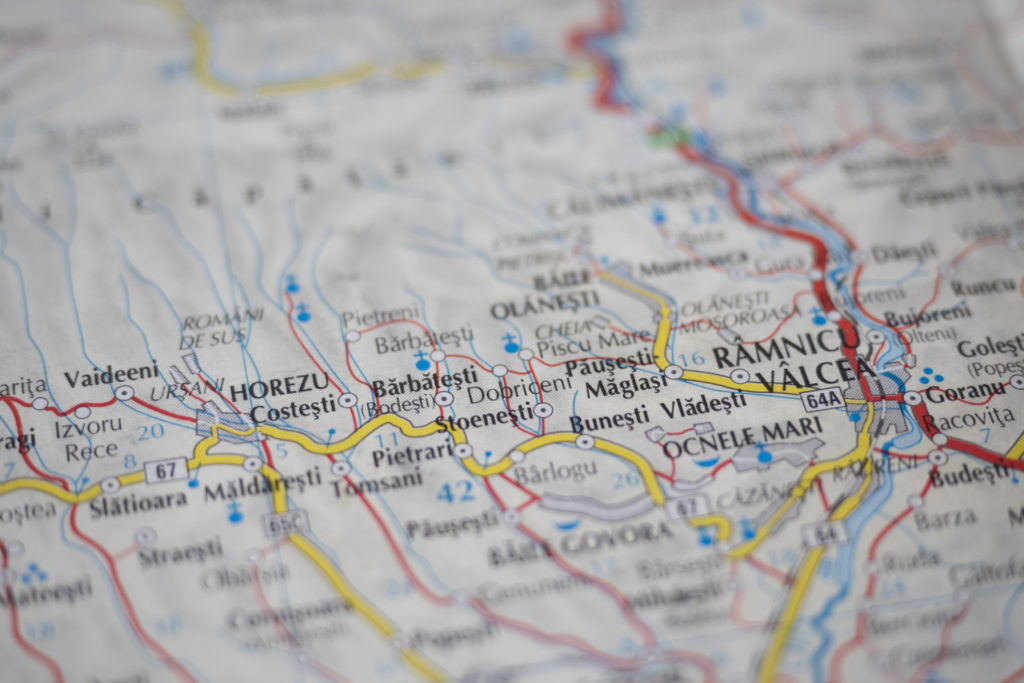 地図 ルーマニア