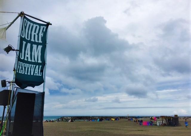 イイ感じで曇り空 surf jam festival 2017