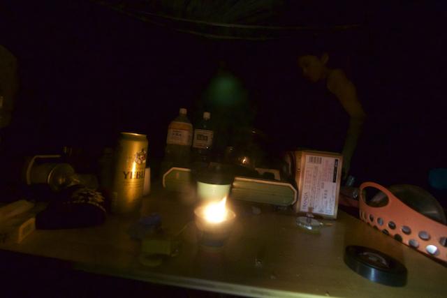 夜中は大雨のフェスティバル会場