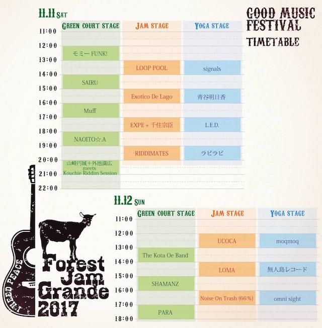 Forest Jam Grande タイムテーブル