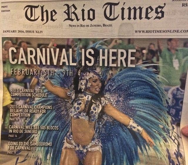 リオのカーニバル 新聞