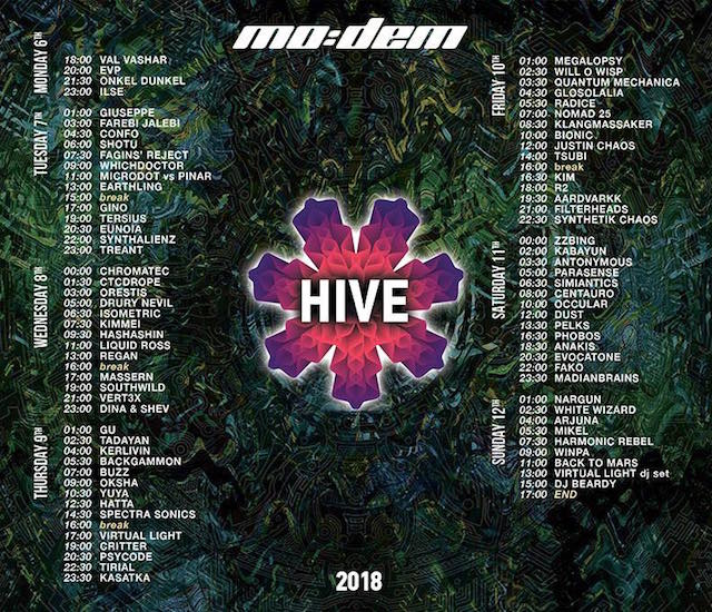 TimeTable Mo:Dem Festival 2018 _HIVE