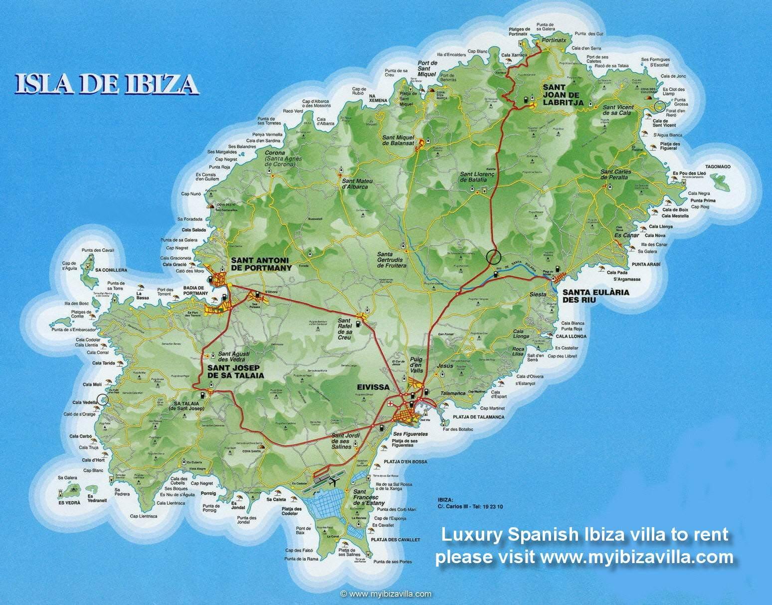 イビザ島 地図