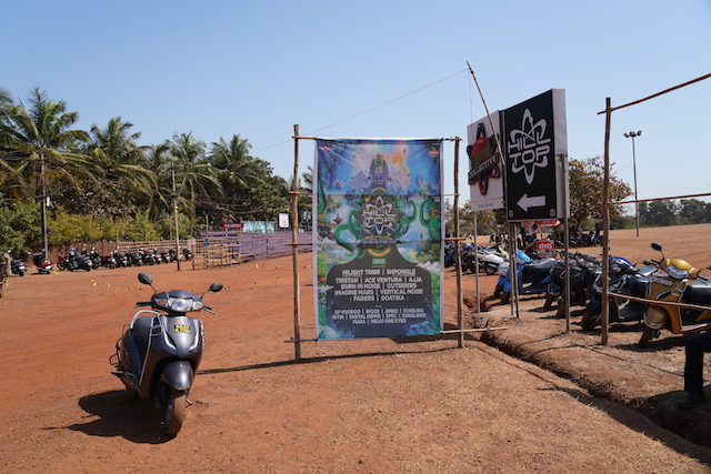 on the way to Hill Top Festival,GOA