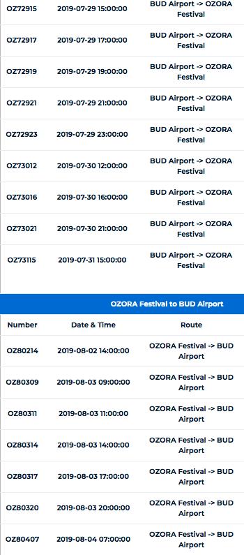 シャトルバス(ブダペスト空港〜OZORA)3