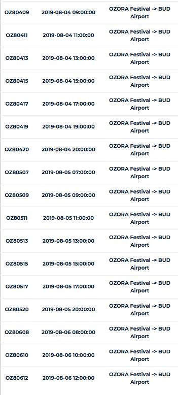 シャトルバス(ブダペスト空港〜OZORA)2