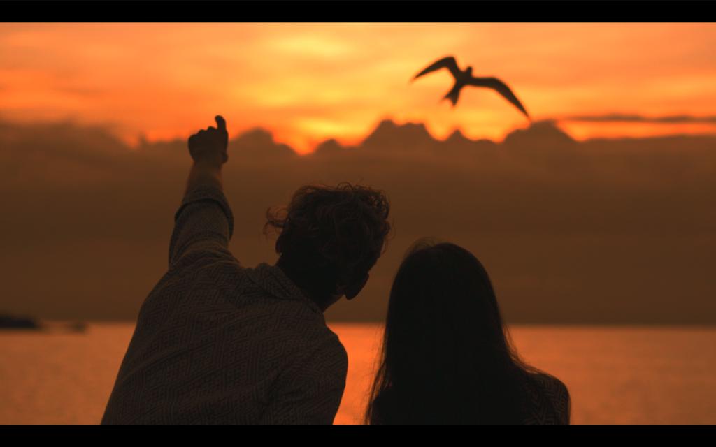 コパンガンで撮影製作した新しいミュージックビデオのワンシーン